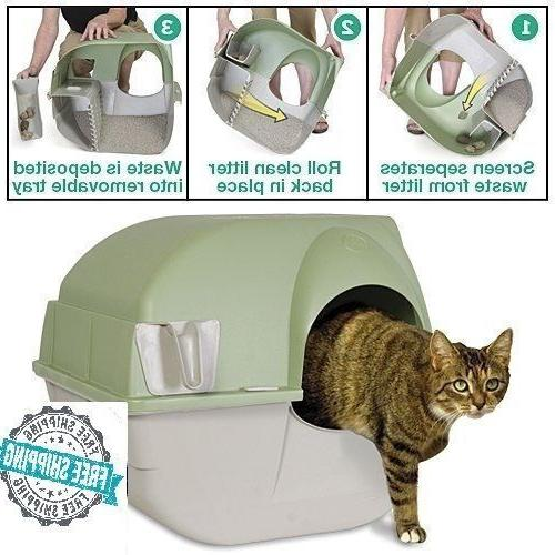 self cleaning cat litter box roll kitty