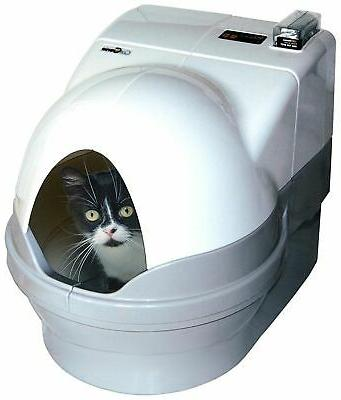 self cleaning litter box dome and sidewalls