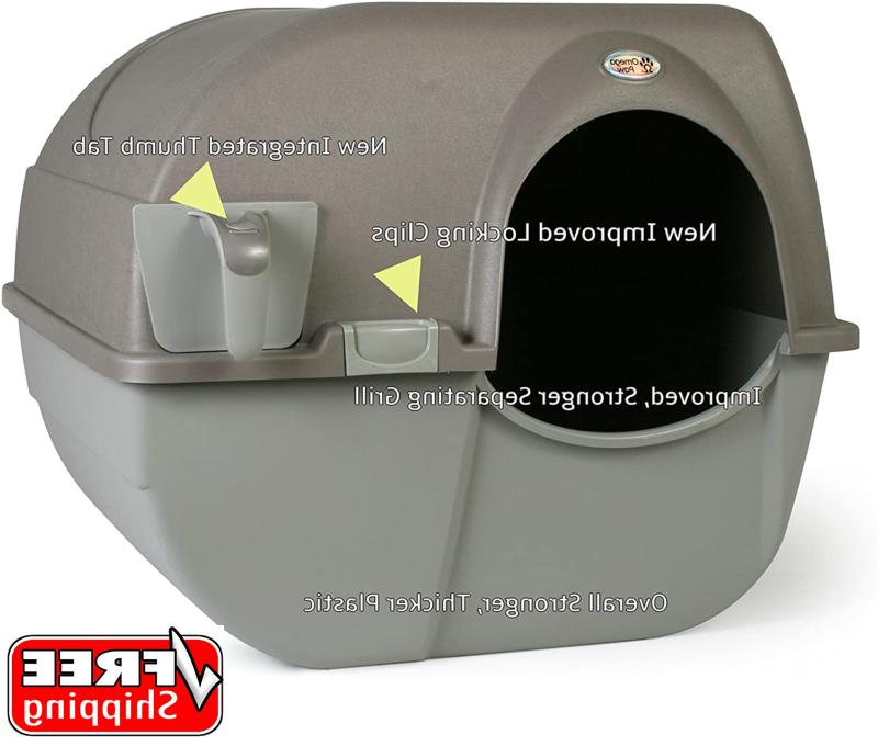 self cleaning litter box large rolln clean