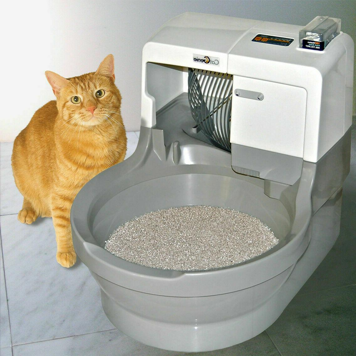 self cleaning litter box washes dries itself