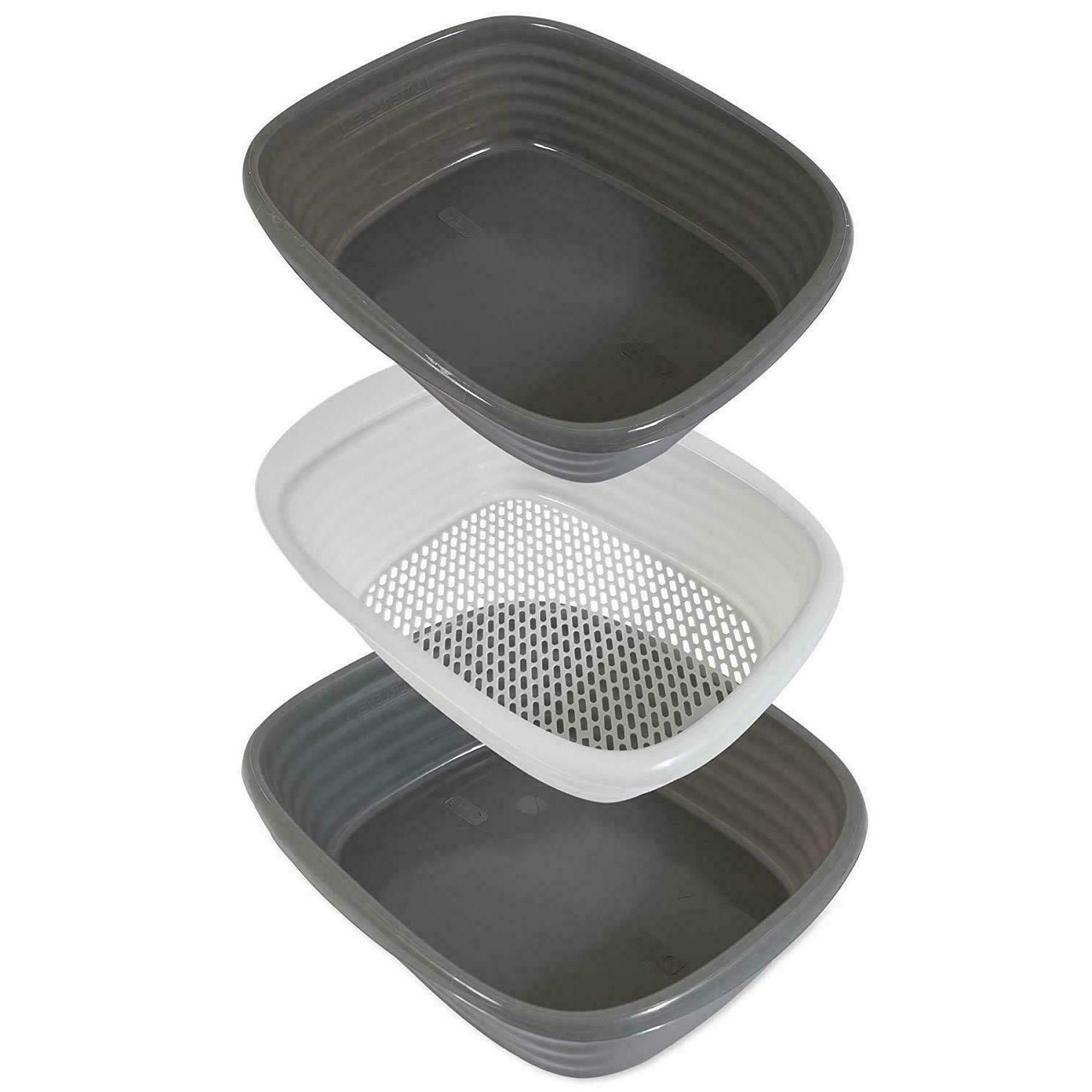 SIFTING CAT LITTER PAN Large Part Cleaning Tray
