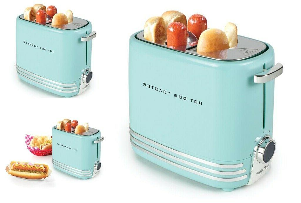 Mini Pop Up Hot Dog Toaster Small Retro Sausage Cooker Grill