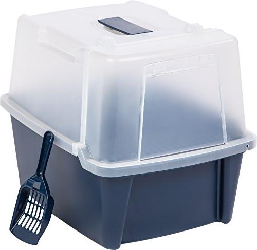 IRIS Large Box with Scoop Grate, Blue