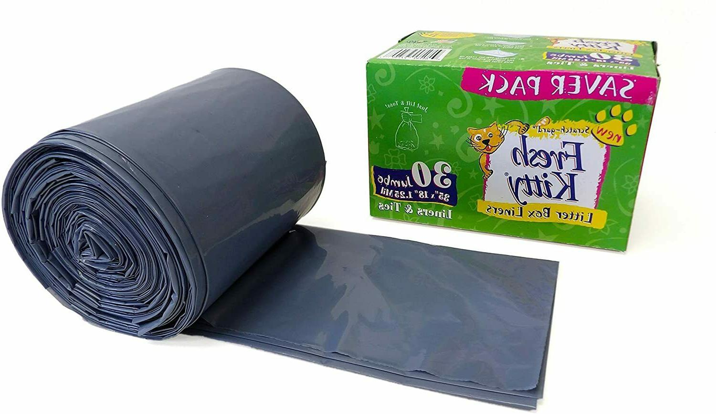 Fresh Kitty Litter Box Liners Jumbo with Ties