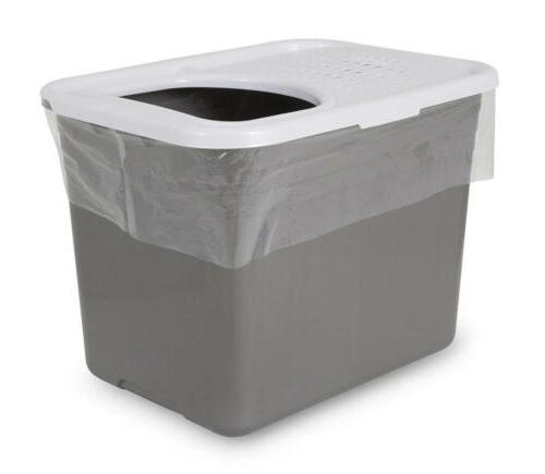 top entry litter box container pan liner