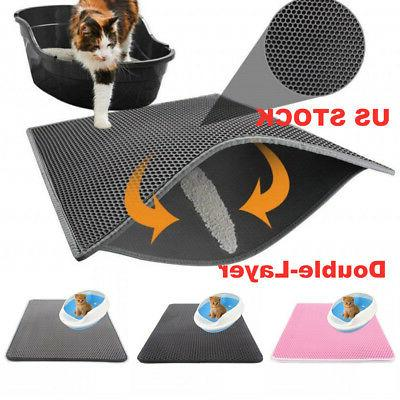 us double layer cat litter box mat