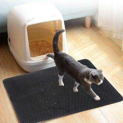 double layer cat litter box mat foldable