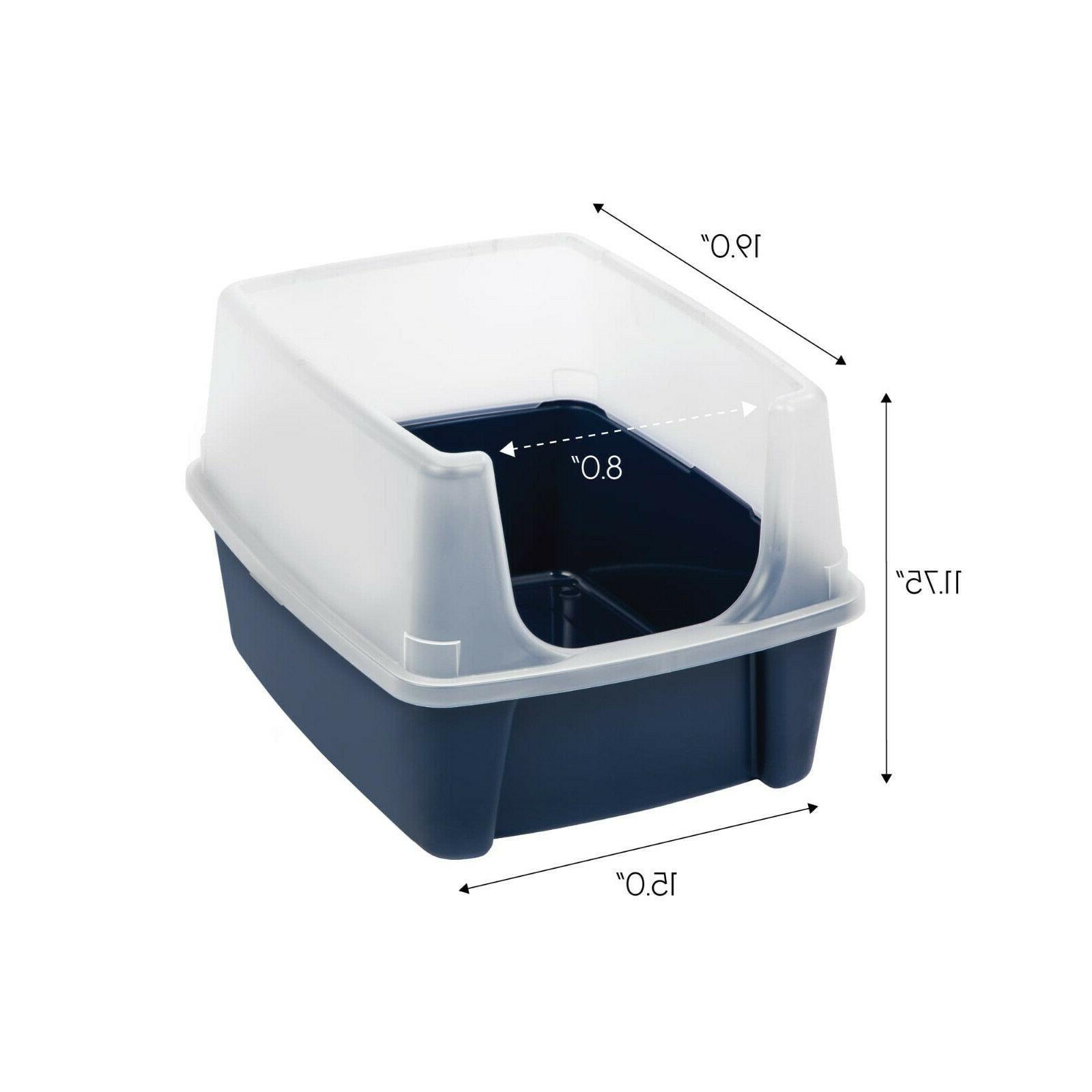 IRIS USA, Open-Top Litter Box With Shield, Regular,