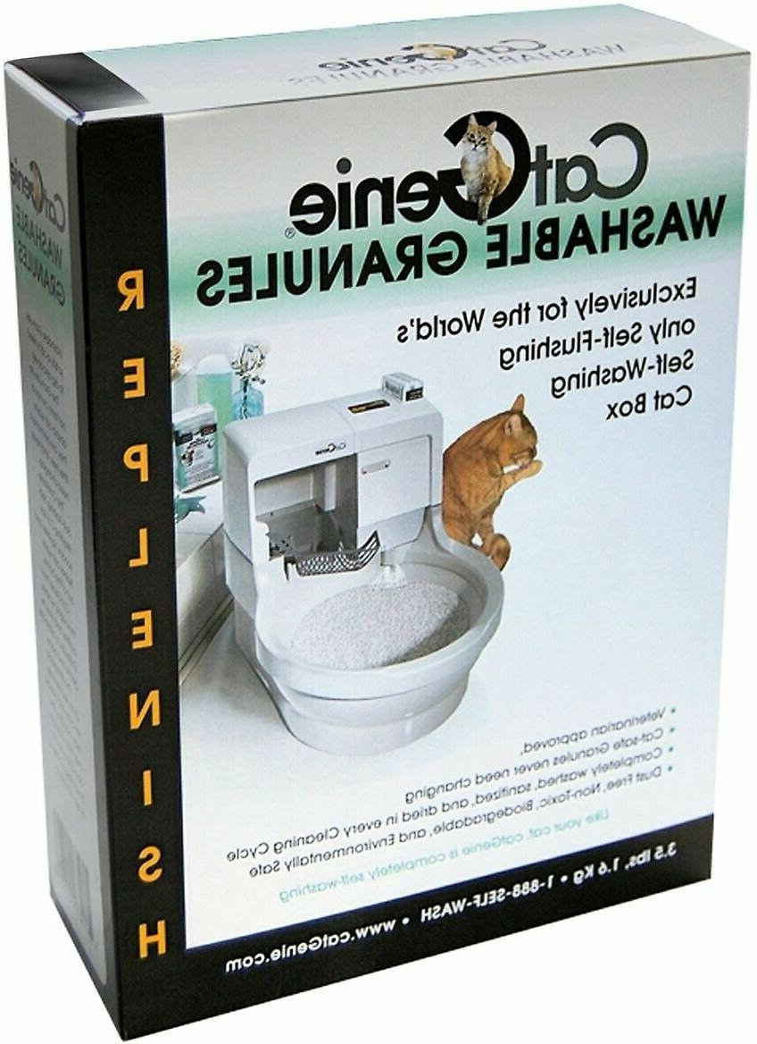 CatGenie Washable Granules with Self-Flushing Box, Pack