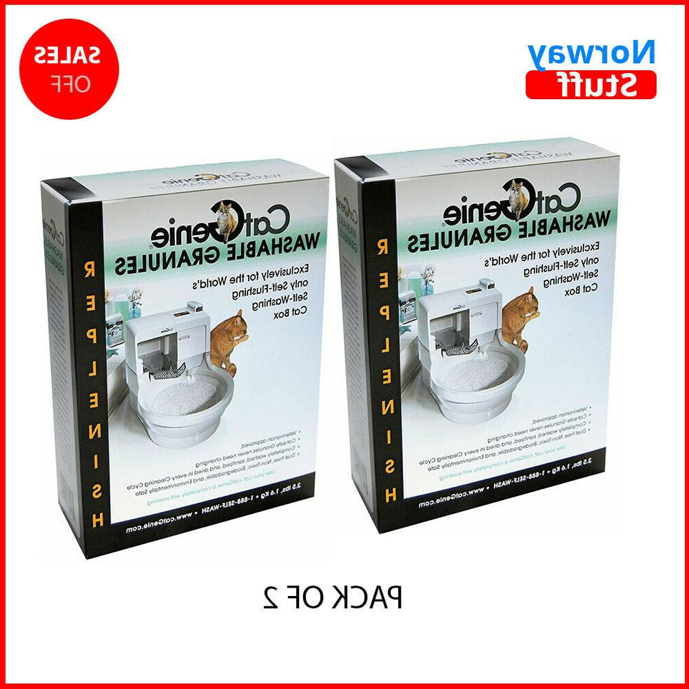 washable granules compatible with self flushing cat