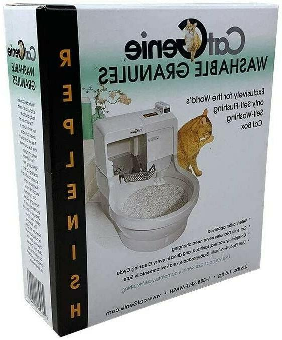washable granules for self washing litter box