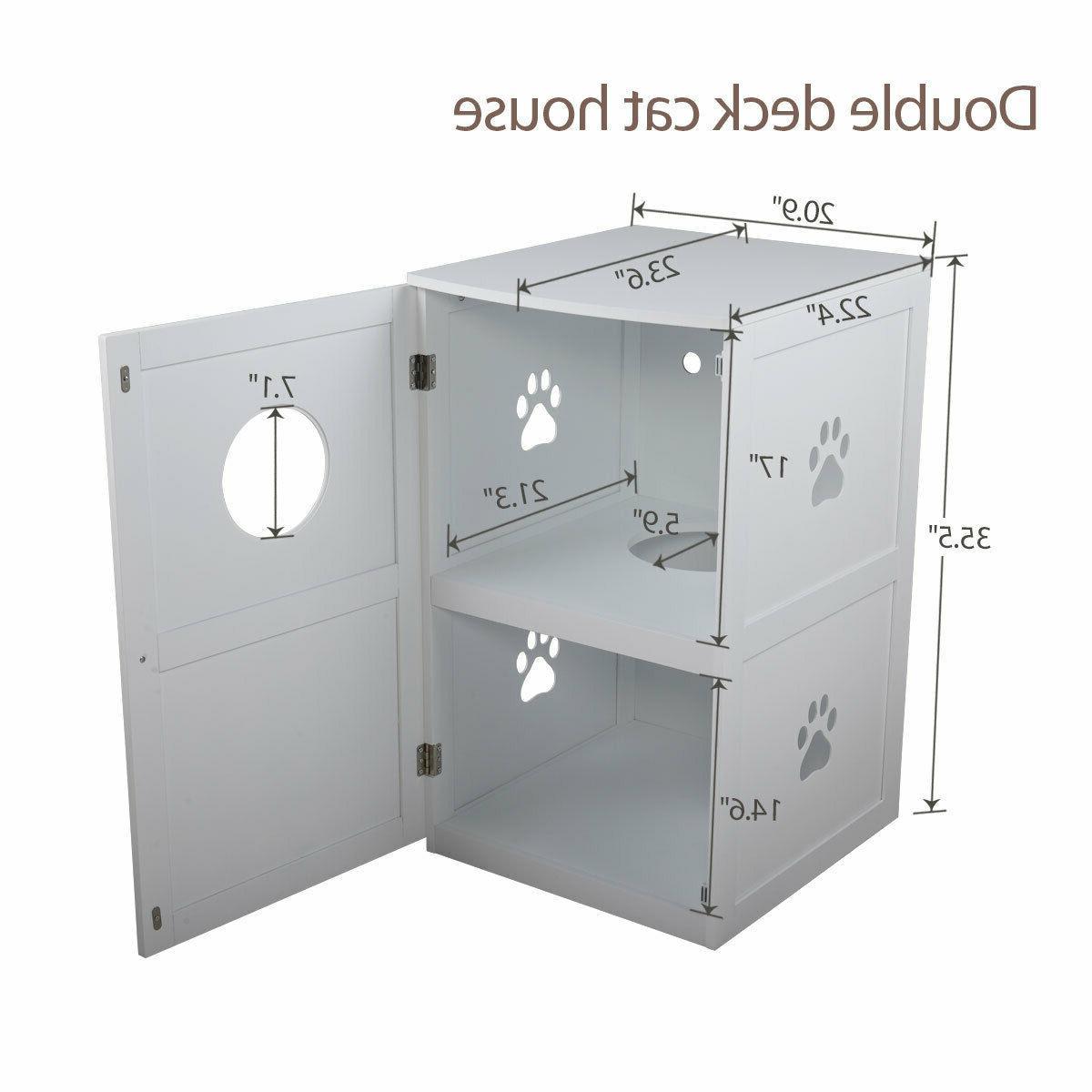 White box House Nightstand Enclosure Furniture