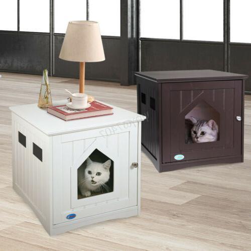 Wooden Cat House Litter Cat Washroom