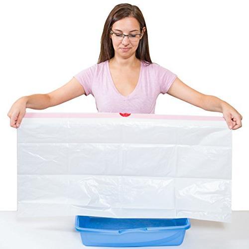 Easyology Litter Box Liners - Strong Thick Litter Litter Liners Litter Bags