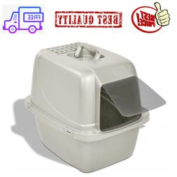 Large Cat Litter Box Pan Enclose Hood Covered Kitty House Cl
