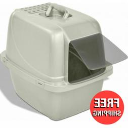 Large Cat Litter Box With Cover Hood Liners Enclosed House C