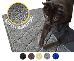 "Large Cat Litter Mat 35""x23"", Soft Scatter Control Rug, Dura"