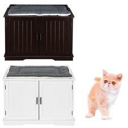 Large Cat Washroom Bench Litter Box Enclosure Furniture Box