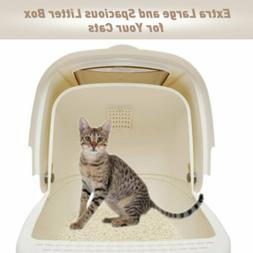 Large Deodorant Cat Litter Box Enclosed Pan Hooded Jumbo Cov