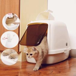 Large Deodorant Cat Litter Boxes Enclosed Pan Hooded Jumbo C