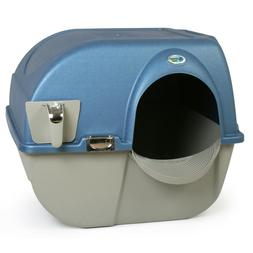 Omega Paw Large Elite Self-Cleaning Litter Box, Blue