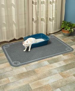 LARGE PAW PRINT CAT LITTER BOX MAT Protect Floor Stain Pet K