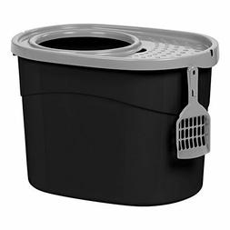 Large Size Top Entry Cat Litter Box Filtered Lid with Scoop