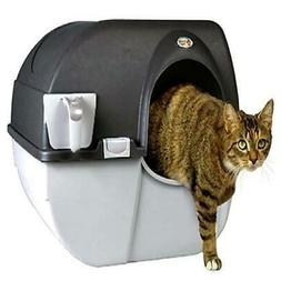 Lightweight Large  Self Cleaning Litter Box Black for Pets