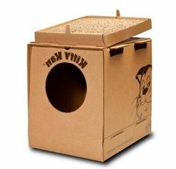 Kitty Kan with Litter Quality Disposable Enclosed Litter Box