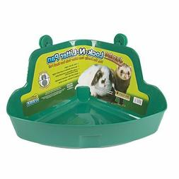 Lock-n-litter Pan for Small Animals, Color: Assorted , Size: