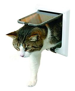 Trixie Pet Products 4-Way Locking Cat Door with Tunnel, Whit
