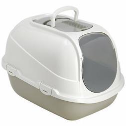 Moderna Mega Comfy Enclosed Grey Litter Box for Cats, X-Larg