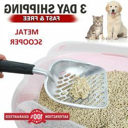 Metal Cat Litter Scoop Sifter Aluminum Alloy with Flexible L