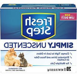 Fresh Step Multi-Cat, Clumping Cat Litter, Unscented, 20 Pou
