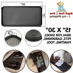 "Multi Purpose Boot Mat Tray 15"" x 30 In Plastic Shoe Dog Wat"