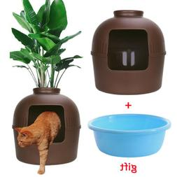 Multifunctional Cat Litter Box Kitty Hidden Decorative Clay