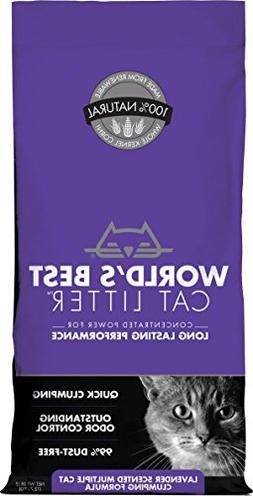 Worlds Best Cat Litter Multiple Cat Formula Lavender 28 Poun