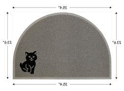 Nature's Extra Large Half Moon Grey Cat Litter Mat