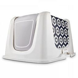 So Phresh Navy Cat Litter Box Privacy Hood, X-Large