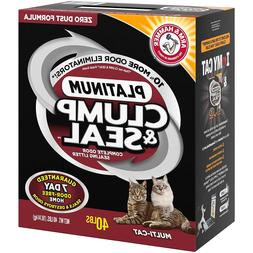 NEW Arm & Hammer Multi-Cat Clump & Seal Clumping Litter-40 L