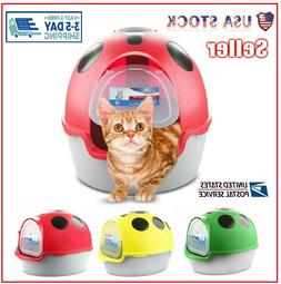 NEW Cat Flip Litter Tray 3 Colours Box Hooded Pan Toilet Loo