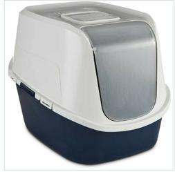 "NEW So Phresh Jumbo Enclosed Litter Box in Navy, 23"" L x 19"""