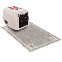 Non Slip Litter Box Mat Dirt Catcher Floor Protector 35 x 23