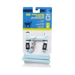 Catit Nylon Adjustable Cat Harness and Leash Set, Medium, Bl