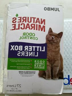 Nature's Miracle Odor Control Jumbo Litter Box Liners, 27 Co