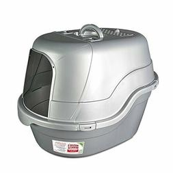 Oval Hooded Flip Top Litter Box w/Odor Control