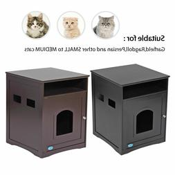 Pet Cat Hidden Litter Box Furniture Enclosure Shelter House