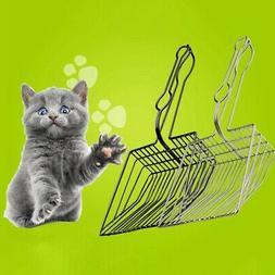 Pet Cat Litter Poop Scoop Kitty Box Metal Clean Scooper Stai