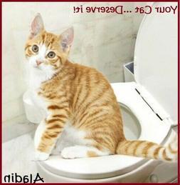 Pet Cat Toilet Training Kit Pet Kitty Potty Train System Ste