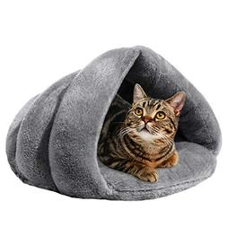 Pet Dog Bed Cat Bed, Soft Plush Covered Hooded Pet Bed Cat C